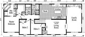 Ranch Style Open Floor Plans Oakland Ranch Style Modular Home Pennwest Homes Model S