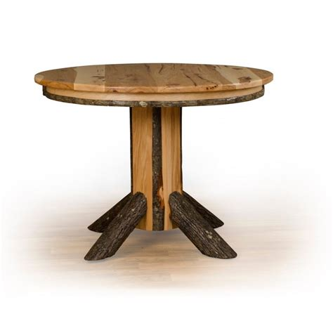 Oak Pedestal Dining Table Rustic Hickory Single Pedestal Dining Table Oak Or