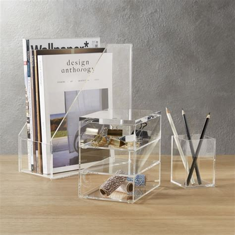 desk accessories for acrylic desk accessories cb2