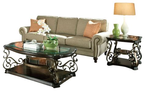 bronze table for living room standard furniture seville 3 piece coffee table set with