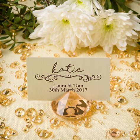 gold table card holders place card holder table confetti set