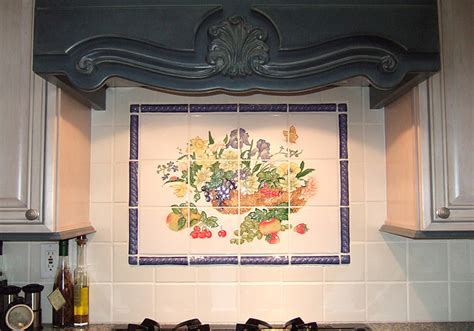 ceramic tile murals for kitchen backsplash love my home kitchen mural backsplash