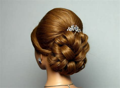 wedding prom hairstyle for hair bridal updo