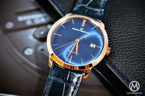 Girard Perregaux 1966 blue dial and pink gold   REVIEW