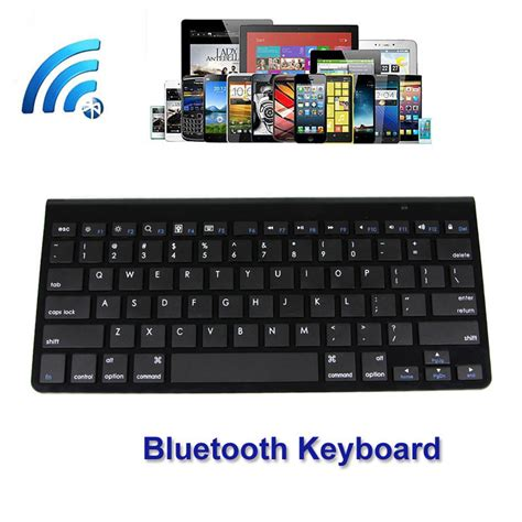 Keyboard For Windows Android Ios Wireless Bluetooth Multimedia fashion design ultra slim multimedia aluminum wireless bluetooth keyboard for ios android pc