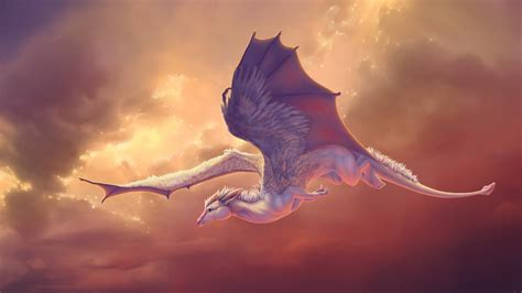 wallpaper baby dragon wings flight creative graphics