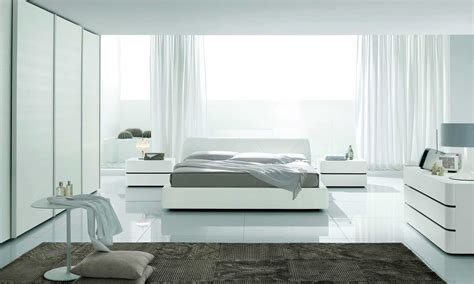Modern white furniture, modern bedroom furniture on
