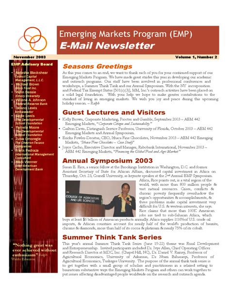 email newsletter template 2 free templates in pdf word