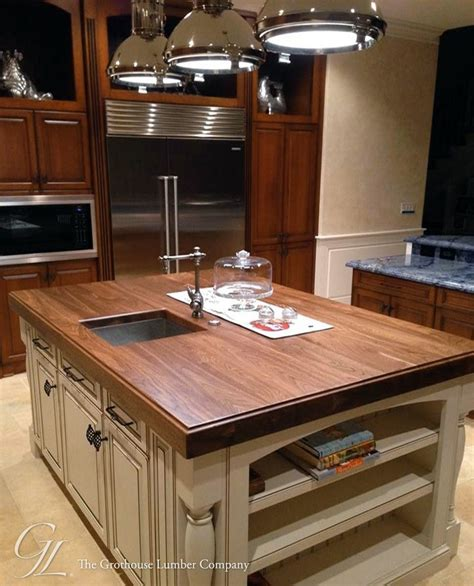 Kitchen Island Countertops Walnut Wood Counter For Kitchen Island In Florida