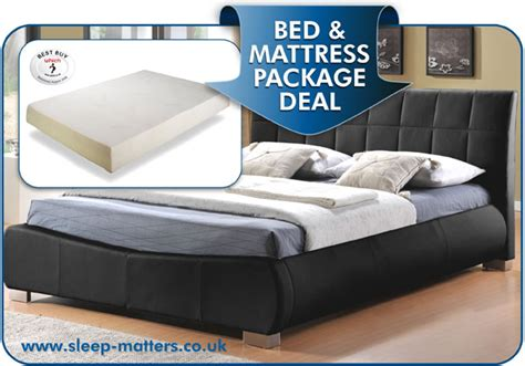 bed and mattress deals dorado ultra modern faux leather bed combined with