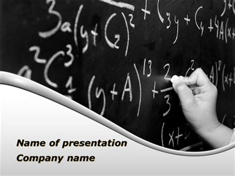 ppt themes mathematics mathematics formulas presentation template for powerpoint