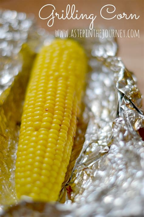 grilling corn a veggie dinner