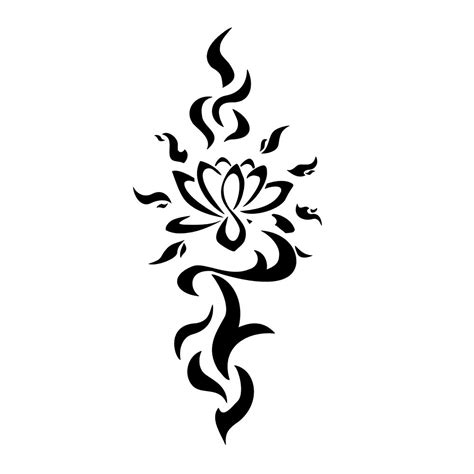 tribal tattoo with flower lotus tattoos designs ideas and meaning tattoos for you