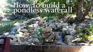 Backyard Water Features Ideas by How To Build A Pondless Waterfall All