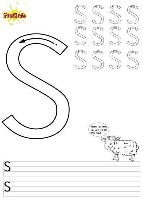 Kostenlose Vorlage Buchstaben Buchstaben Schreiben Lernen Arbeitsbl 228 Tter Buchstabe S Buchstaben Zum Ausmalen Kostenlose