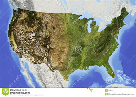 usa relief map usa relief map royalty free stock photography image