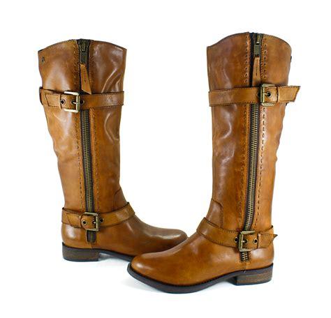 cognac boots steve madden sonnya cognac leather cowboy boots shoes 8