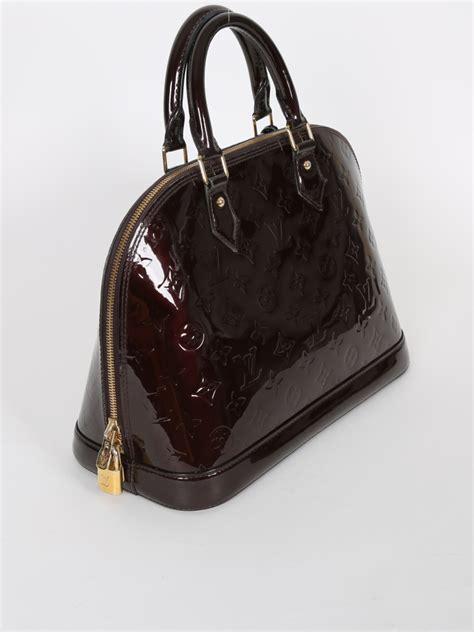 Louis Vuitton Alma Pm Monogram Vernis Leather Amarante