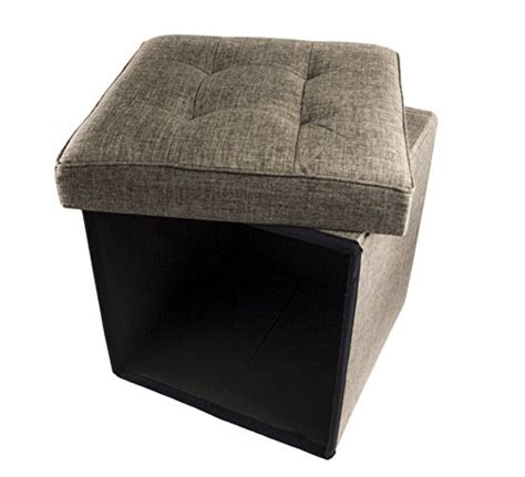 padded ottoman with storage folding cube storage ottoman with padded seat 15 quot x 15