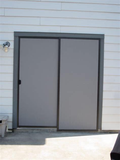 sliding door screens brown gray fabric w brown frames solar window screens sliding