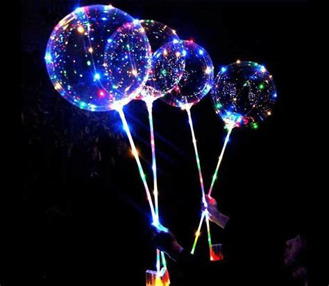 led light up balloons light up led balloons on a stick the green