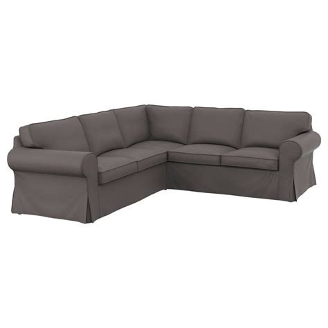 Ektorp Sectional Sofa Ikea Ektorp Cover 2 2 Sofa 4 Seat Sectional Corner Slipcover Nordvalla Gray Grey Ebay