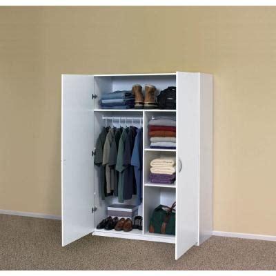 Garage Wardrobe Storage Cabinet by White Clothing Wardrobe Cabinet Closet Armoire Storage