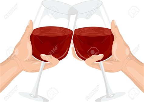 cartoon wine glass cheers toast clipart wine glass pencil and in color toast