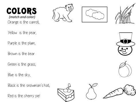 enjoy teaching english colors poem