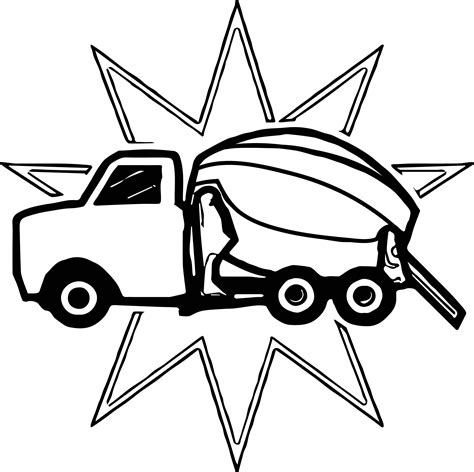 concrete coloring awesome cement mixer truck coloring pages gallery