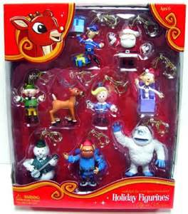 Rudolph the red nosed reindeer holiday hanging figurines clip ons