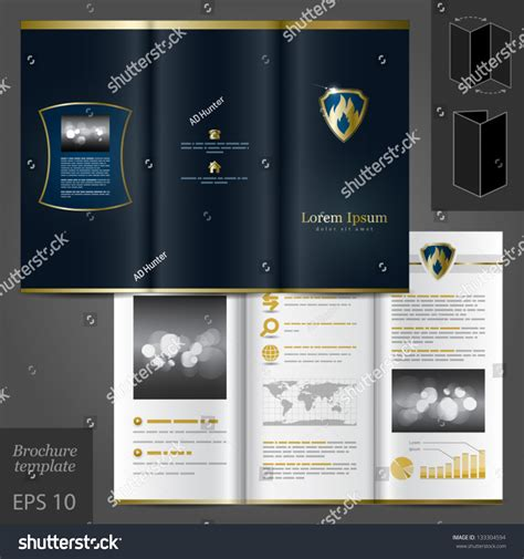 vector luxurious brochure template design fire stock