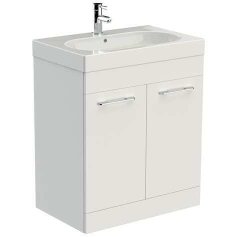 white 2 door cabinet saneux austen 700mm gloss white 2 door cabinet with washbasin