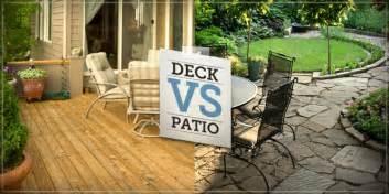 patio vs deck the deck patio debate bedrooms to backyards