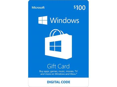 Buy Windows Store Gift Card - microsoft windows store gift card 100 email delivery newegg com