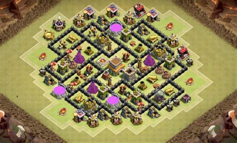coc layout anti gowipe th8 9 epic th8 war base layouts farming base layouts for 2016