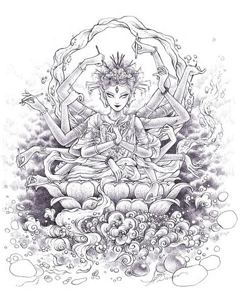 india coloring pages for adults adult coloring page india hindu goddess 6