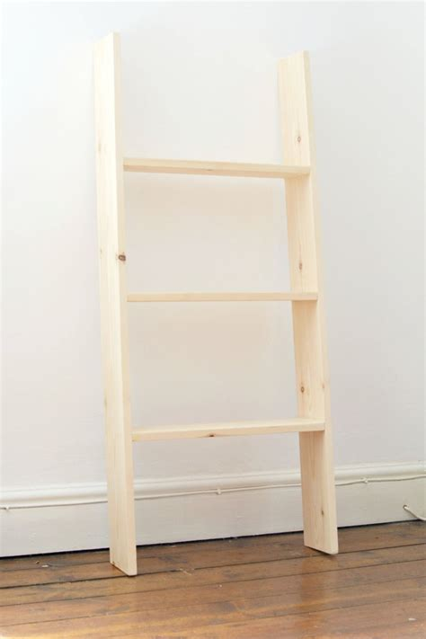 picture of diy ladder shelf for small spaces 3