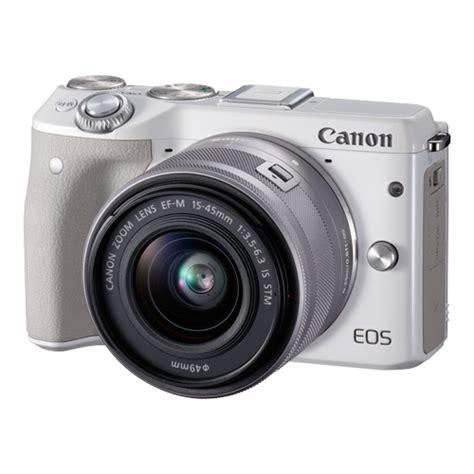 Terlaris Canon Eos M3 Kit 15 45mm Is Stm White Paket Komplit canon eos m3 mirrorless ef m 15 45mm lens kit white uu 13803270624 ebay