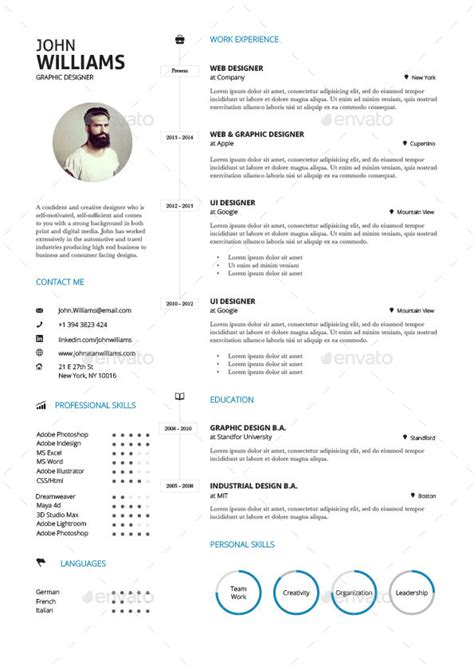 Clean Resume by Clean Resume Vol 3 By Paolo6180 Graphicriver