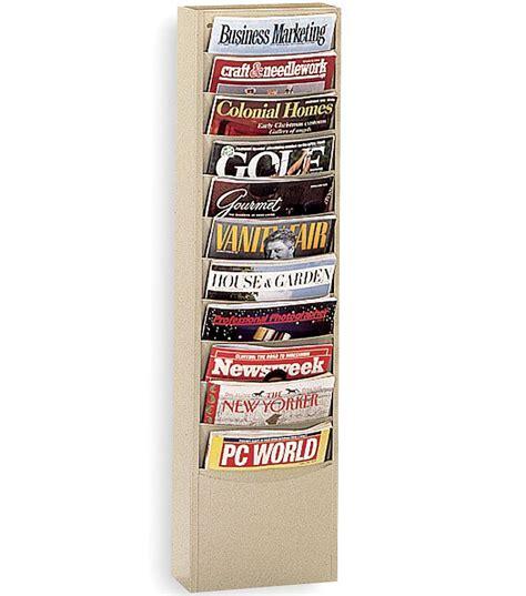 Wall Magazine Racks by Steel Wall Mounted Magazine Rack In Wall Magazine Racks