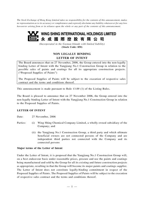 Non Binding Letter Of Intent Template Sles Letter Cover Templates Non Binding Letter Of Intent Template