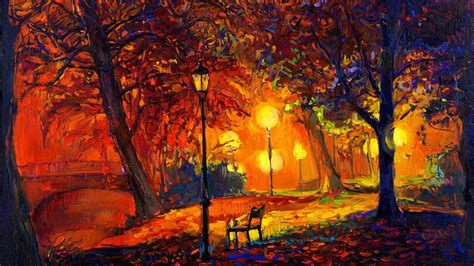 painting for pc free autumn landscape painting hd wallpapers