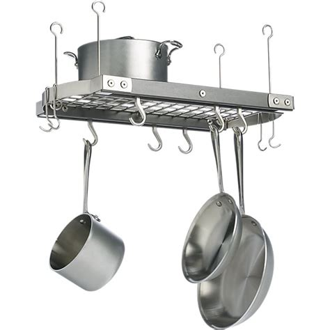 Pot And Pan Ceiling Holder J K Small Grey Ceiling Pot Rack Crate And Barrel