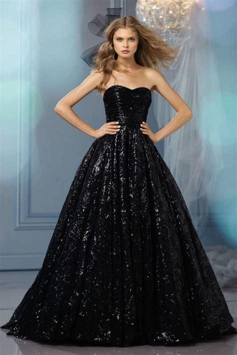 gorgeous black wedding dresses deer pearl flowers