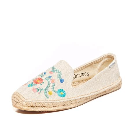 mexican slippers soludos slipper mexican embroidery in beige sand