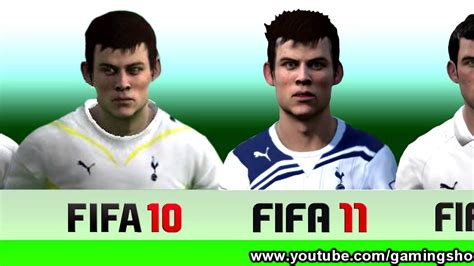 gareth bale fifa hairstyle gareth bale from fifa 07 to 13 youtube