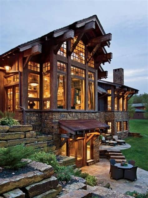 love this porch log cabin lodge pinterest modern mansion log cabin style perfect my perfect home