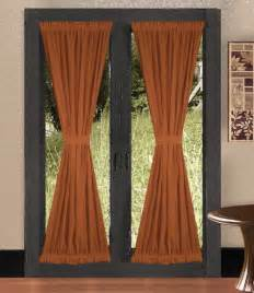 Rust Colored Curtains Solid Rust Colored Door Curtain Available In Many Lengths
