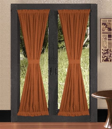 Rust Colored Curtains Designs Solid Rust Colored Door Curtain Available In Many Lengths